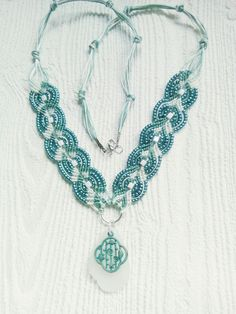 oceans of teal necklace