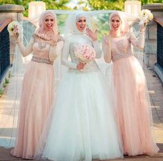 2015 Elegant Muslim Hijab Wedding Dresses Long Sleeve A-line Dubai Wedding Gown Shiny Beads High Neck Vestidos De Noiva Bridal Gowns Hijabi Wedding, Muslimah Wedding Dress, Muslim Wedding Dresses, Princess Wedding Dresses, Long Bridesmaid Dresses, Muslim Brides, Modest Dresses, Kebaya Wedding, Nikkah Dress