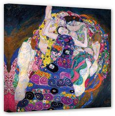 »Das Weib ist mein Hauptwerk«, so ein Zitat von Gustav Klimt. Dieses spiegelt sich auch in seinem Gemälde 'Die Jungfrau' wider. Das Original hängt in der National Galerie in Prag.  Artikeldetails:  Größe: (B/H): 60/60 cm,  Material/Qualität:  100% Baumwolle,  Qualitätshinweise:  Auf festes Canvas aus 100% Baumwolle gedruckt, Für viele Jahre Farbecht,  Wissenswertes:  Inkl. Aufhängung auf der Rü...