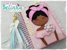 Notebook Cover Design, Diy Notebook, Decorate Notebook, Foam Crafts, Diy And Crafts, Arts And Crafts, Ballet Drawings, Kawaii Crafts, Classroom Decor