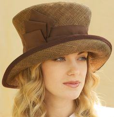 Cocoa Brown Straw Kentucky Derby Church Hat by AwardDesign on Etsy