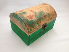 Wooden Green Chest Made by Juja.