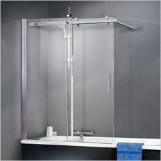 Schulte Schulte Kristall Trend Gleittür auf Badewanne Echtglas klar hell