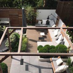 Outdoor Garden Rooms, Rooftop Garden, Outdoor Landscaping, Garden Spaces, Outdoor Areas, Outdoor Living, Backyard Swings, Backyard Patio, Dream Garden
