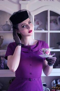 Idda van Munster (Aida Đapo) / Pin Up / Purple Mode Vintage, Vintage Girls, Retro Vintage, Vintage Outfits, Vintage Style, Vintage Flash, Estilo Pin Up, Estilo Retro, Look Fashion