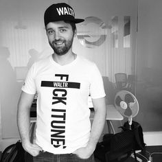 """CEO is feeling fly today. #Exclusive #WALTR """"F*CK ITUNES"""" tshirts. Want one? :D"""