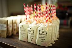 Western Theme Kids Party by Kelly Allyson Photography! Adorable apple juice in muslin bags. Make ordinary things like drinking apple juice so fun!