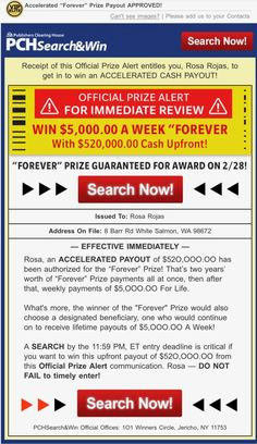 "PCHSEARCH&WIN OFFICIAL PRIZE ALERT PCH IMMEDIATE REVIEW I ROSA ROJAS CLAIM MY OWNERSHIP TO $520,000.00 ACCELERATED PAYOUT & $5,000.00 A WEEK ""FOREVER"""