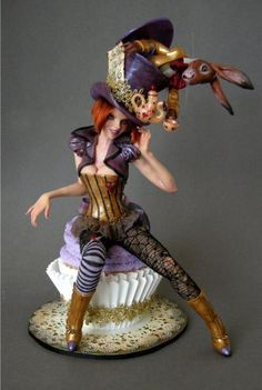 "I just love the purple and gold/bronze colour scheme of this ""Mad Hatter Diva by Nicole West"""