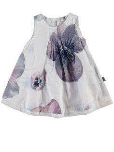 name it mini Mädchen Kleid, Sommerkleid MFVALAIA mit Blumenmuster in bright white: Amazon.de: Bekleidung