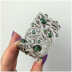 A fantastic gemstone and diamond cuff bracelet by Carelle. Who loves this as much as I do? Read more about this fabulous, woman-owned brand: http://ift.tt/2gbIrwt