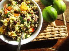 Black Bean, Orange and Corn Quinoa Salad {healthy}