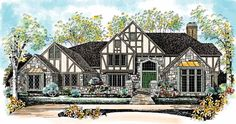 Tudor House Plan with 5638 Square Feet and 4 Bedrooms(s) from Dream Home Source | House Plan Code DHSW45283