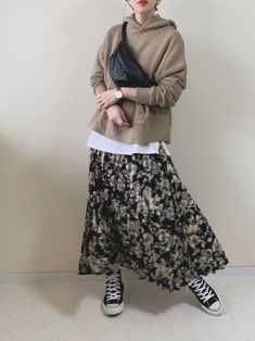Muslim Fashion, Modest Fashion, Hijab Fashion, Fashion Outfits, Long Skirt Fashion, Casual Hijab Outfit, Cute Casual Outfits, Japanese Fashion, Korean Fashion