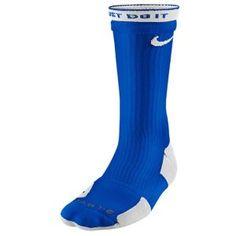 Nike Elite 2 Layer Basketball Crew Sock - Men's - Basketball - Accessories - Game Royal/White