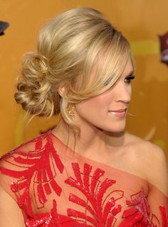 side swept messy do - I have no idea what you want to do with your hair lol buttttt this is pretty:)