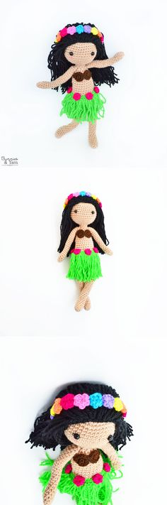 Crochet Pattern - Hannah the Hawaiian Doll - Amigurumi