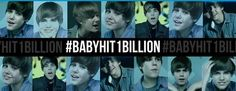 Baby becoming the first Vevo music video to hit a billon views! Congrats justin :D