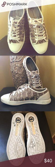 Authentic Michael Kors sneakers Authentic Michael Kors sneakers tan & Beige ,,, very cute not 4 working out only fashion KORS Michael Kors Shoes Sneakers