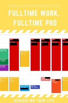 This post id all about how to schedule your PhD when you are full-time working! #study #phd #gradstudy #postgrad