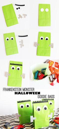 Frankenstein Halloween Goodie Bags on http://www.girllovesglam.com