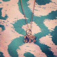 What a sweet little gold elephant pendant! #elephant #necklace