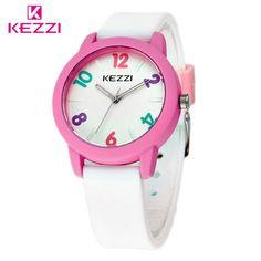 KEZZI Free Shipping Children Watch Leather Strap Quartz Boys gilrs Watches Fashion Kids Student Cute Sport Waterproof Gift Clock