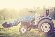 My Blue Tractor   AKA TRACTOR GIRL!