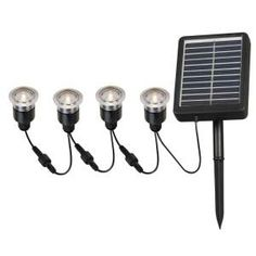 Kenroy solar powered LED string lights with remote control and auto-off.