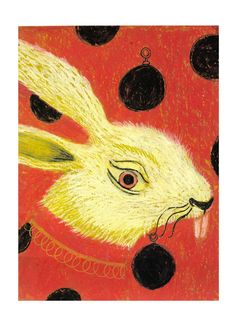 Violeta Lópiz: ilustraciones para el Salon du livre et de la presse jeunesse de Seine-Saint-Denis (París, 2006), serie inspirada en Alicia en el País de las Maravillas.