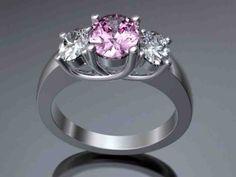 Pink Diamond Platinum Engagement Ring