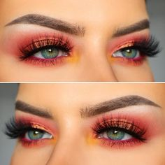 Eyeshadow Looks Summer vibes 🌺☀️ Huda Beauty Евгений Худин Coral Obsessions P. Summer vibes 🌺☀️ Huda Beauty Евгений Худин Coral Obsessions-Palette von Maria King Mykonos Lashes NYX Professionelles Make-up Micro Brow… Coral Dress Makeup, Coral Eye Makeup, Summer Eyeshadow, Pink Eyeshadow Look, Colorful Eye Makeup, Eyeshadow Makeup, Makeup Inspo, Makeup Inspiration, Vestidos Color Coral