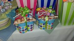 About to POP Themed Baby Shower - Prizes for games: All different kinds of candy that POPs were inside the boxes, with Craker Jack pop corn and a blow pop on time. We also included a $5 Dunkin Donut gift card.