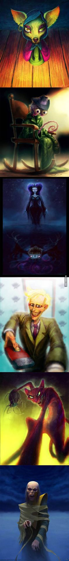 Courage the Cowardly Dog Villains realistic art.