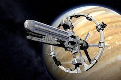 JSS Valiant - Jovian Confederation Valiant-class Strike Carrier - Jovian Chronicles - Dreampod 9 - 3D artist unknown
