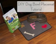 DIY Dog Bowl Placemat Tutorial | Seersucker Sass #MyPetMyStar #ad