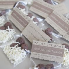 Learn how to easily make your own 'seed bombs' which make wonderful gifts or wedding favors!