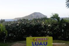 Rabbit Island is the backdrop of Chief's Luau #Hawaii #Oahu