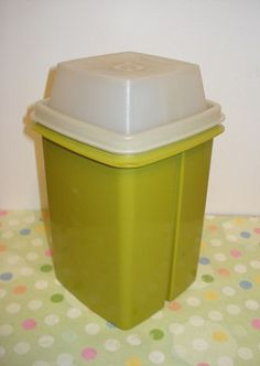 this makes me smile. my grandma had this exact pickle container by Tupperware. This was on her table every Saturday when we went to her house for homemade burgers and fries for lunch.