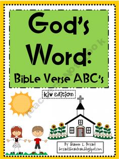 God's Word: Bible Verse ABC's KJV Edition (Posters and Coloring Pics) 4.00