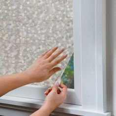 Peel & Stick Window Film - Good for that stupid window in our shower.