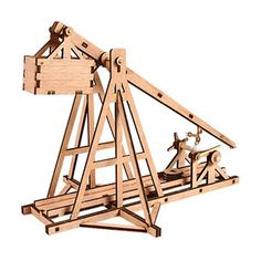 "Desktop Wooden Model Kit Trebuchet - 9""(l) X 7""(h) X 14""(h) Material"
