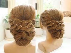Легкая прическа на каждый день с плетением для средних волос - YouTube