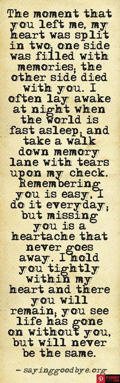 Yes! so true, so true....miss you every day Nana.
