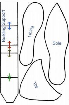 Plantilla del patrón de zapatos de tacón                                                                                                                                                                                 More