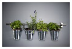 Hanging Herb Garden from Ikea - photo by Justin & Mary Must check it out; I already have pots.