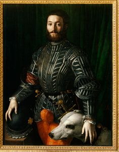 'Portrait of Guidobaldo II della Rovere'  (1531-1532) by Florentine painter Bronzino (1503-1572). Oil on panel. collection: Palazzo Pitti, Florence. via Art Blart
