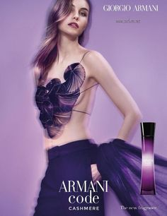 Giorgio Armani enlists top model Julia Step to star in Armani Code Cashmere's 2017 fragrance campaign captured by fashion photographer Benjamin Lennox. Armani Fragrance, Diy Fragrance, New Fragrances, Giorgio Armani Code, Giorgio Armani Beauty, Armani Code For Women, Perfume Adverts, Lotion, Fragrance