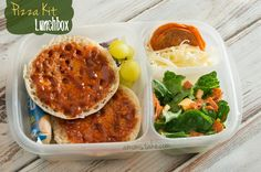 Pizza kit themed bento lunch box and more fun + easy lunchbox ideas for kids