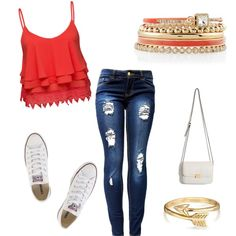 teen fashion by foreverfearliss on Polyvore featuring polyvore fashion style Volant Converse White House Black Market Bling Jewelry
